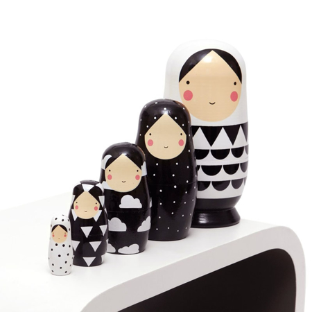 Immagine di Petit Monkey® Bambole russe Black & White
