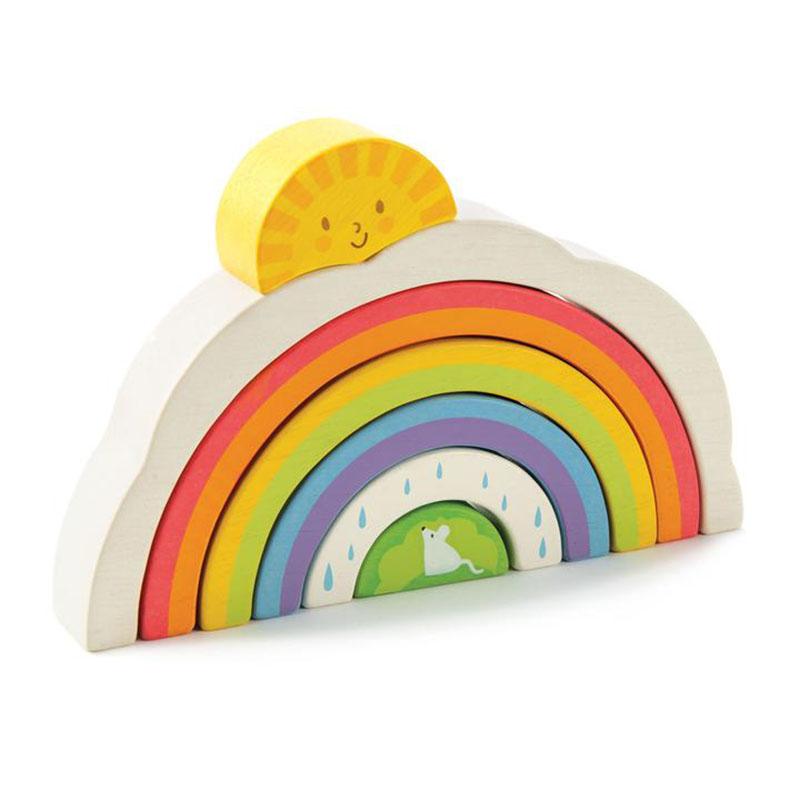 Immagine di Tender Leaf Toys® Tunnel arcobaleno Rainbow Tunnel