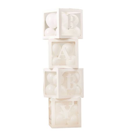 Ginger Ray® Scatole trasparenti decorative con palloncini Baby