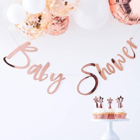 Immagine di Ginger Ray® Scritta da appendere Rose Gold Baby Shower