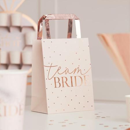 Immagine di Ginger Ray® Buste regalo Rose Gold Team Bride 5 pezzi