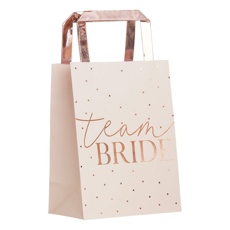 Ginger Ray® Buste regalo Rose Gold Team Bride 5 pezzi
