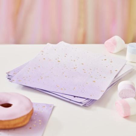 Immagine di Ginger Ray® Tovaglioli di carta Lilac Ombre 16 pezzi
