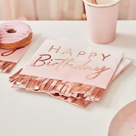 Immagine di Ginger Ray® Tovaglioli di carta Rose Gold Ombre 16 pezzi
