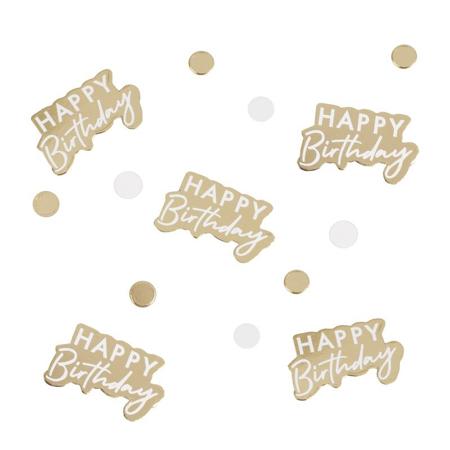 Ginger Ray® Coriandoli decorativi da tavolo Gold Happy Birthday