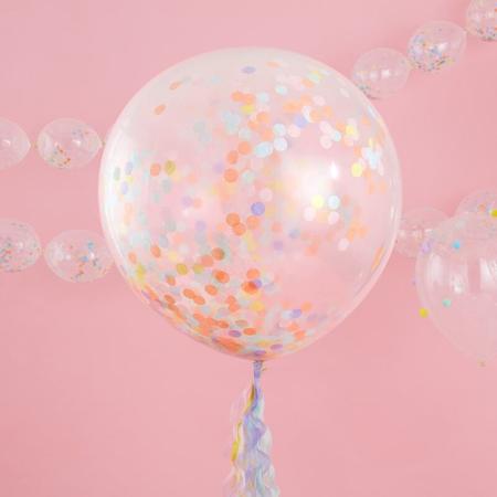 Immagine di Ginger Ray®  Grandi palloncini con coriandoli Pastel Party 3 pezzi