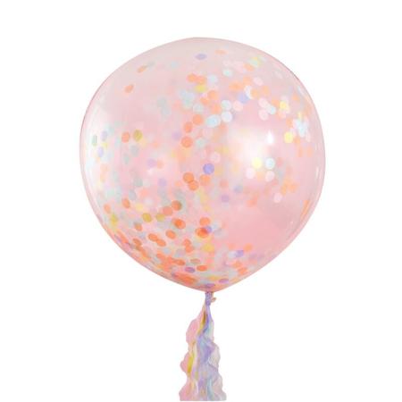 Ginger Ray®  Grandi palloncini con coriandoli Pastel Party 3 pezzi