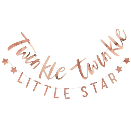 Ginger Ray®  Iscrizione appesa Twinkle Twinkle Rose Gold