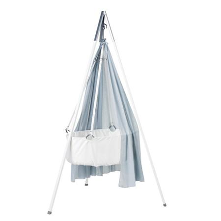 Immagine di Leander® Culla per bambini con sostegno  White + Velo culla GRATIS BLUE