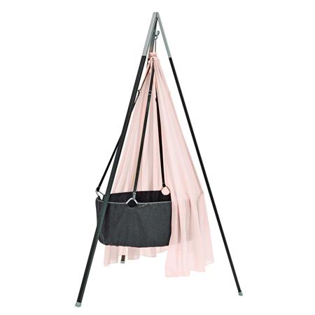 Immagine di Leander® Culla per bambini con sostegno  Grey + Velo culla GRATIS ROSA