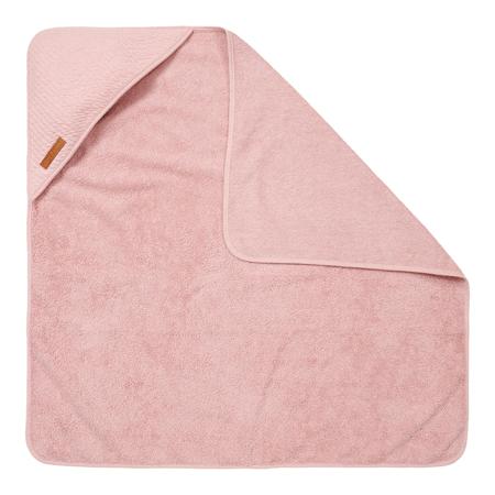 Little Dutch® Asciugamano con cappuccio Pure Pink 75x75