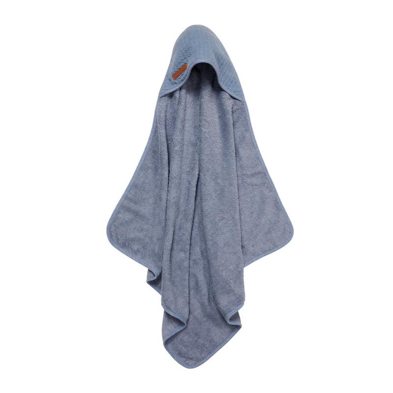 Immagine di Little Dutch® Asciugamano con cappuccio Pure Blue 75x75