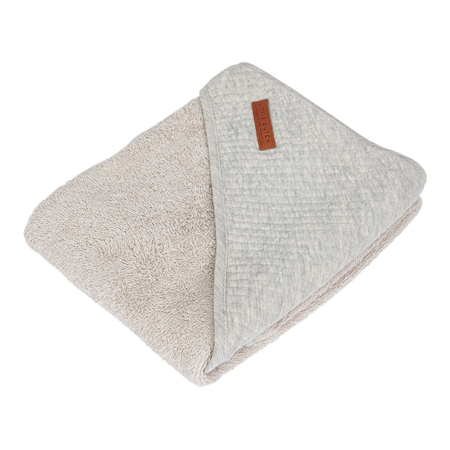 Little Dutch® Asciugamano con cappuccio Pure Grey 75x75