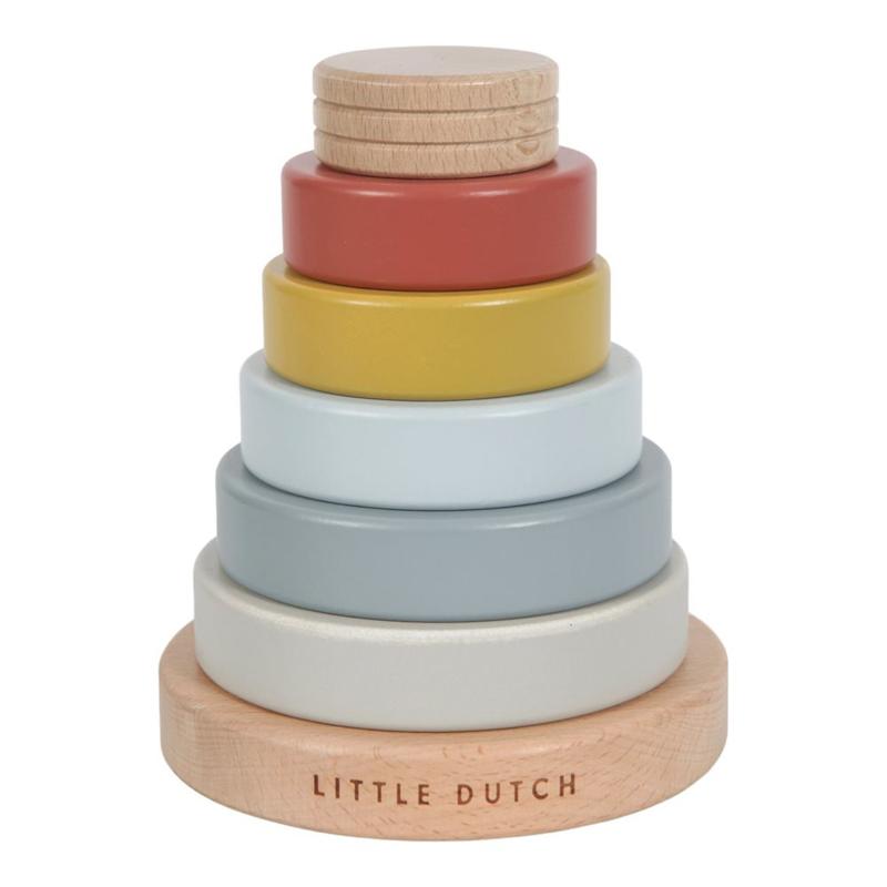 Immagine di Little Dutch® Anelli in legno Cono Pure & Nature