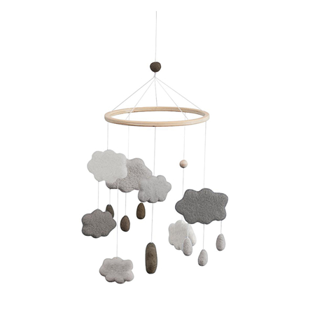 Immagine di Sebra® Giostrina musicale Clouds Warm Grey