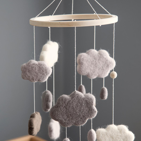 Sebra® Giostrina musicale Clouds Warm Grey