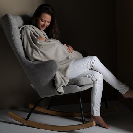 Immagine di Quax® Sedia a dondolo per adulti De Luxe Sand Grey