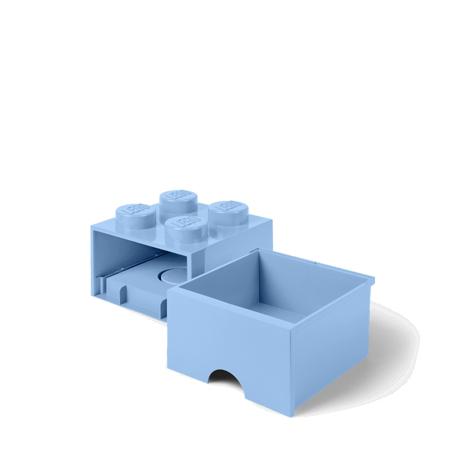 Immagine di Lego® Contenitore con 4 Cassetti Light Royal Blue