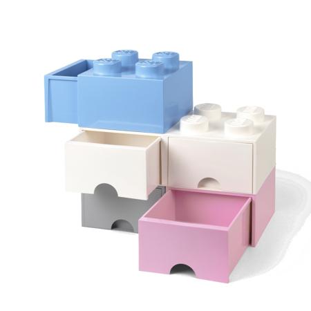 Immagine di Lego® Contenitore con 4 Cassetti Light Purple