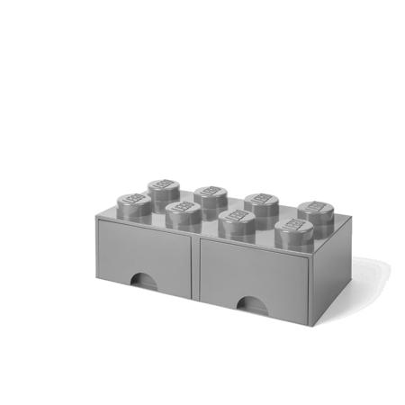 Immagine di Lego® Contenitore con 8 Cassetti Medium Stone Grey