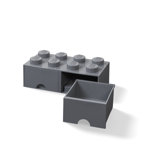 Immagine di Lego® Contenitore con 8 Cassetti Dark Grey