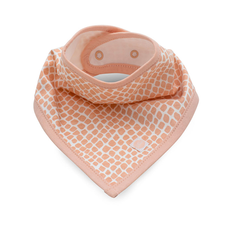 Jollein® Bavaglino di cotone Snake Pale Pink 2 pezzi