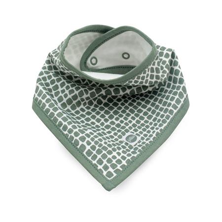 Jollein® Bavaglino di cotone Snake Ash Green 2 pezzi