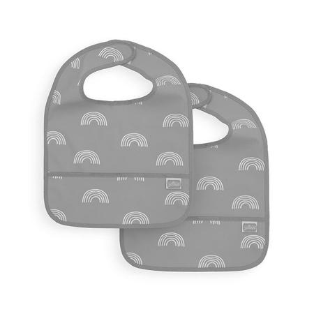 Immagine di Jollein® Bavaglino impermeabile  Rainbow Grey 2 pezzi