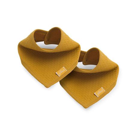 Immagine di Jollein® Bavaglino di cotone Brick Velvet Mustard 2 pezzi