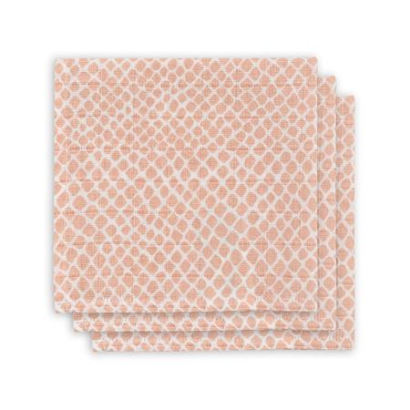 Immagine di Jollein® Set di 3 mussole Snake Pale Pink 31x31