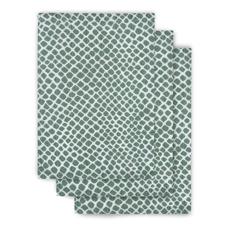 Immagine di Jollein® Set di 3 panni per il bagnetto Snake Ash Green 15x21