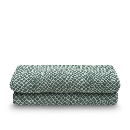 Immagine di Jollein® Set di due mussole Snake Ash Green 115x115