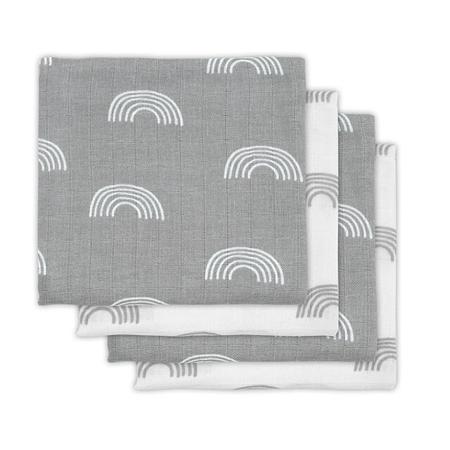 Immagine di Jollein® Set di 4 mussole  Rainbow Grey 70x70