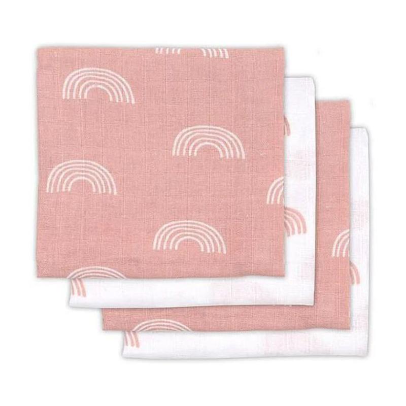 Immagine di Jollein® Set di 4 mussole   Rainbow Pink 70x70