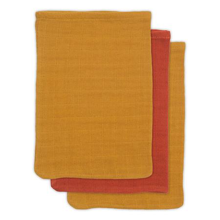 Immagine di Jollein® Set di 3 panni di bambù per il bagnetto Mustard Rust 15x20