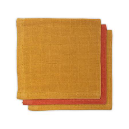 Immagine di Jollein® Set di 3 mussole Mustard Rust 31x31