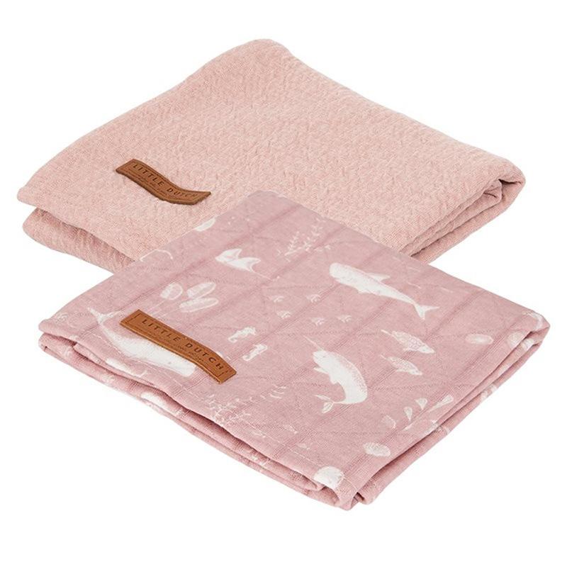 Immagine di Little Dutch® Set 2 mussole Ocean Pink 70x70