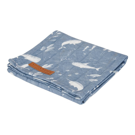 Little Dutch® Set 2 mussole Ocean Blue 70x70