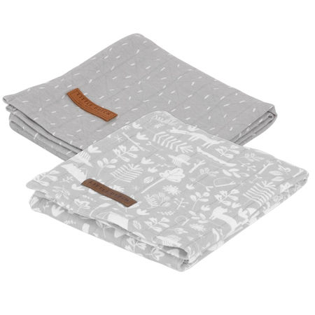Immagine di Little Dutch® Set di 2 mussole Adventure Grey 70x70