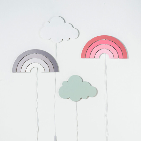 Immagine di Jollein® Lampada da parete Nuvoletta Green