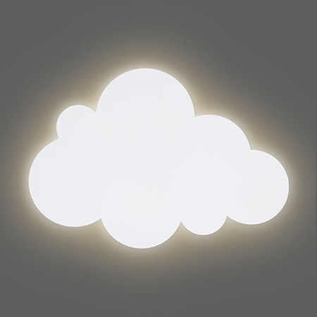 Jollein® Lampada da parete Nuvoletta Green