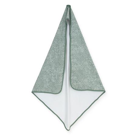 Jollein® Asciugamano con cappuccio Snake Ash Green 75x75