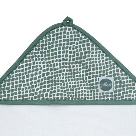Immagine di Jollein® Asciugamano con cappuccio Snake Ash Green 75x75