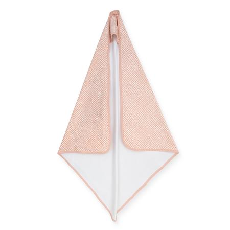 Jollein® Asciugamano con cappuccio Snake Pale Pink 75x75
