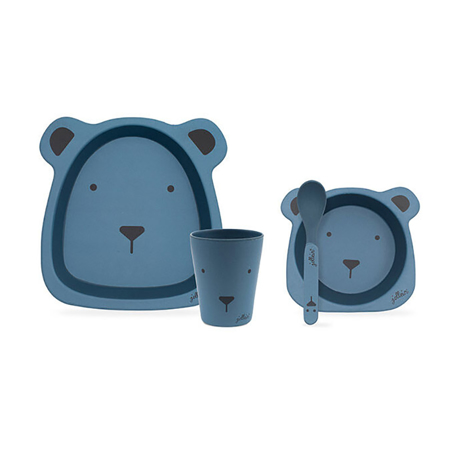 Immagine di Jollein® Set pappa Animal Club Steel Blue