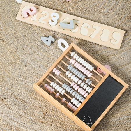 Jollein® Calcolatrice in legno per bambini  Pink/Grey