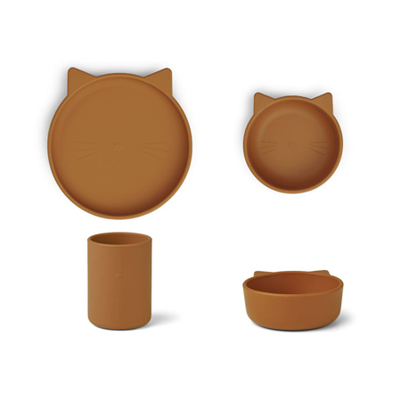 Immagine di Liewood® Set pappa in silicone  Cyrus Junior Cat Mustard