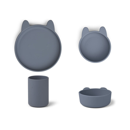 Immagine di Liewood® Set pappa in silicone Cyrus Junior Rabbit Blue Wave