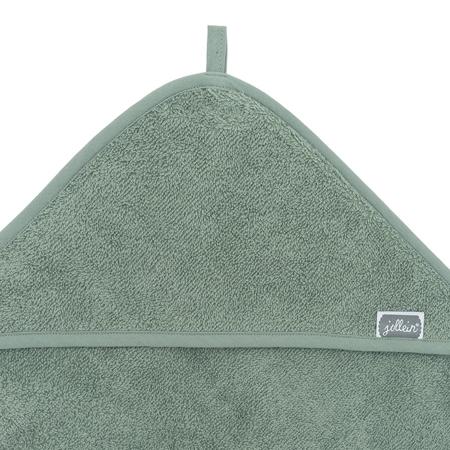 Immagine di Jollein® Asciugamano con cappuccio Ash Green 75x75