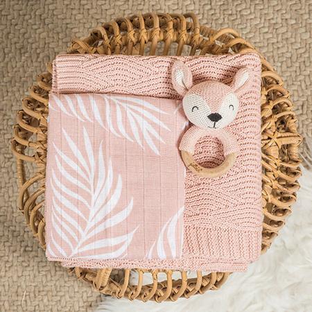 Immagine di Jollein® Set di 3 panni di per il bagnetto Nature Pale Pink 20x15